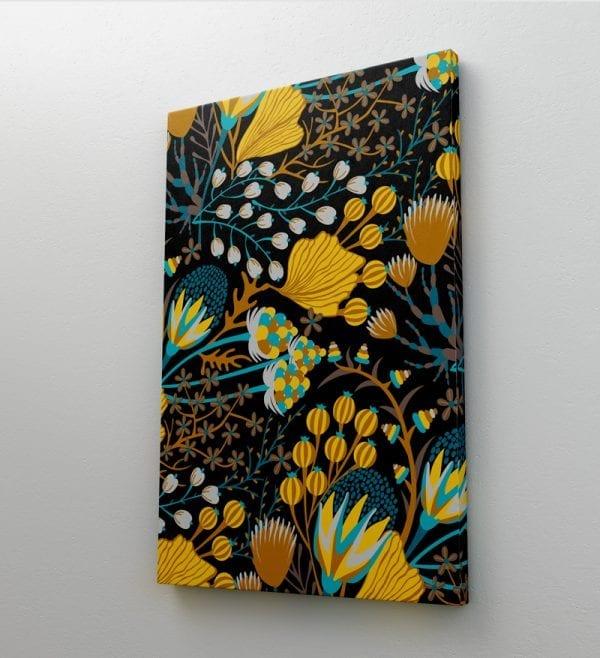 tablou canvas flori galbene portret mediu perete