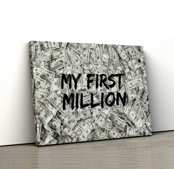 tablou canvas my first million