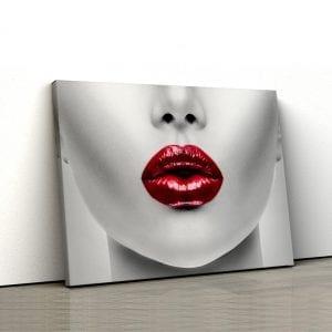 tablou canvas luscious lips landscape main