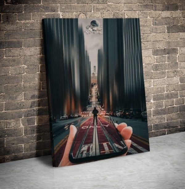 tablou canvas portret main 52