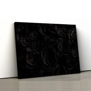 tablou canvas trandafiri negri landscape main