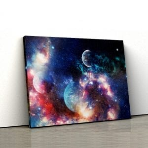 1 tablou canvas Planete in nebuloasa