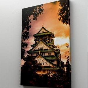 1 tablou canvas White and Green Castle Japan