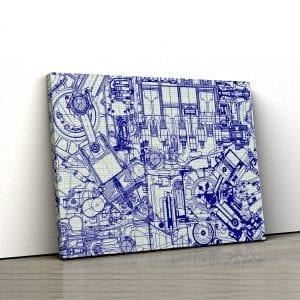 Tablou canvas Blue print 1