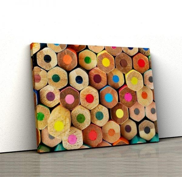 Tablou canvas Creioane colorate 1