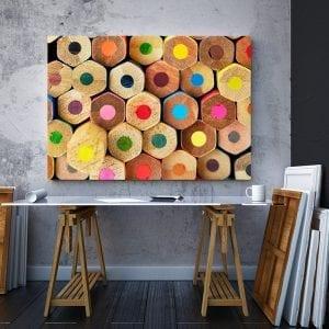 Tablou canvas Creioane colorate 2