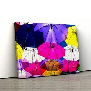 Tablou canvas Umbrele colorate 1