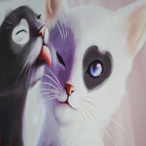 Tablou canvas cats art1