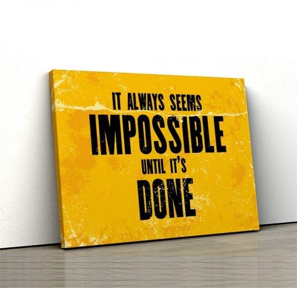 Tablou canvas motivational Done 01 1