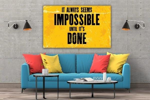 Tablou canvas motivational Done 01 2