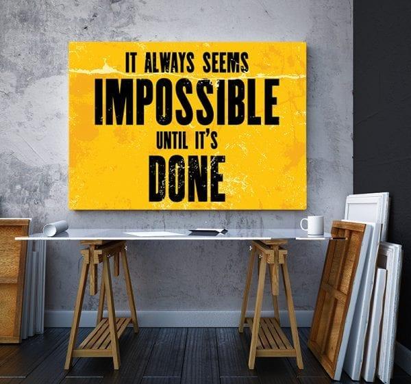 Tablou canvas motivational Done 01 3