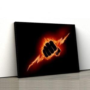 Tablou canvas motivational Iron fist 1