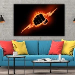 Tablou canvas motivational Iron fist 2