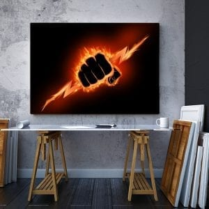 Tablou canvas motivational Iron fist 3