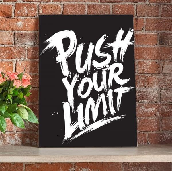 Tablou canvas motivational Limit 2