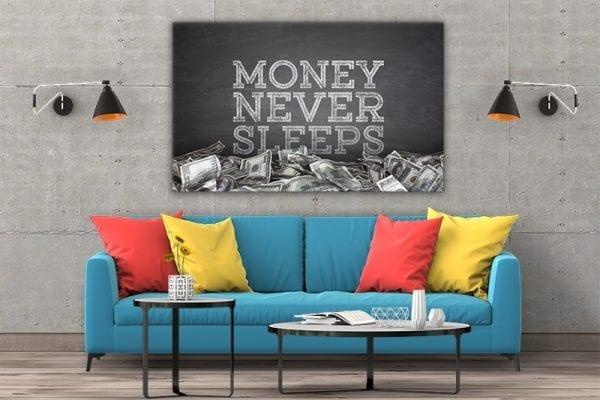 Tablou canvas motivational Money 2