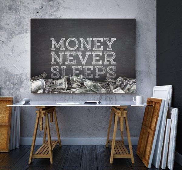 Tablou canvas motivational Money 3