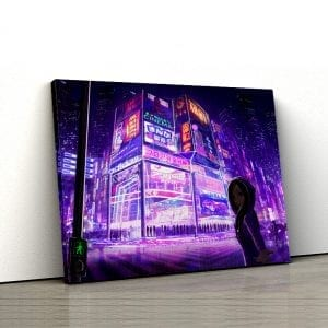 tablou canvas Cityscape Girl 1