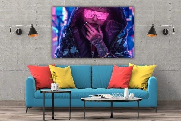 tablou canvas Neon Glasses Girl 3