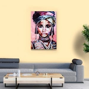 tablou canvas africa woman portret camera