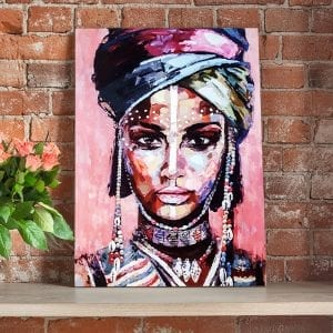 tablou canvas africa woman portret caramida