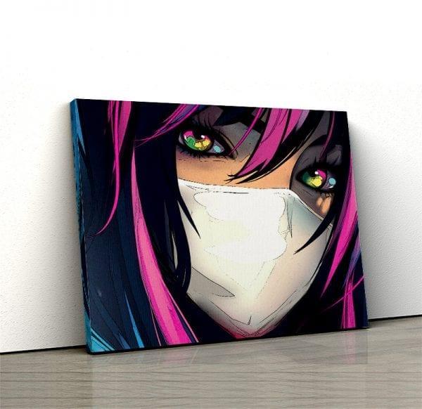 tablou canvas colorful eyes 1