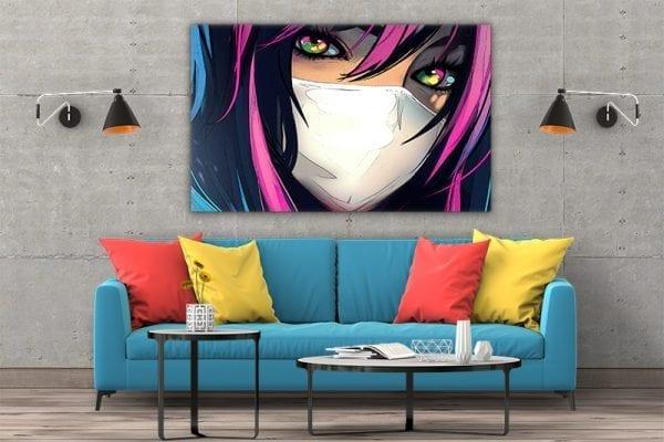 tablou canvas colorful eyes 3