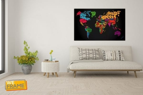 tablou canvas harta lumii tablouri canvas weframe