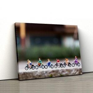 tablou canvas landscape Tablou Canvas biciclete grupmain