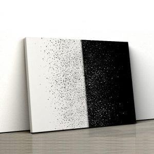 tablou canvas landscape main Tablou canvas abstract alb negru particule