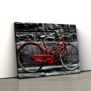 tablou canvas landscape main Tablou canvas bicicleta rosie 2