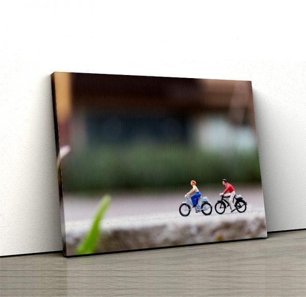 tablou canvas landscape main Tablou canvas biciclete miniatura
