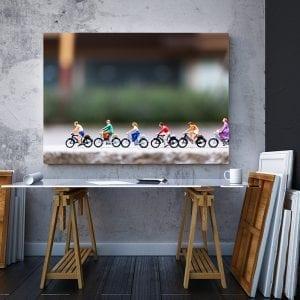 tablou canvas landscape mare Tablou Canvas biciclete grup birou