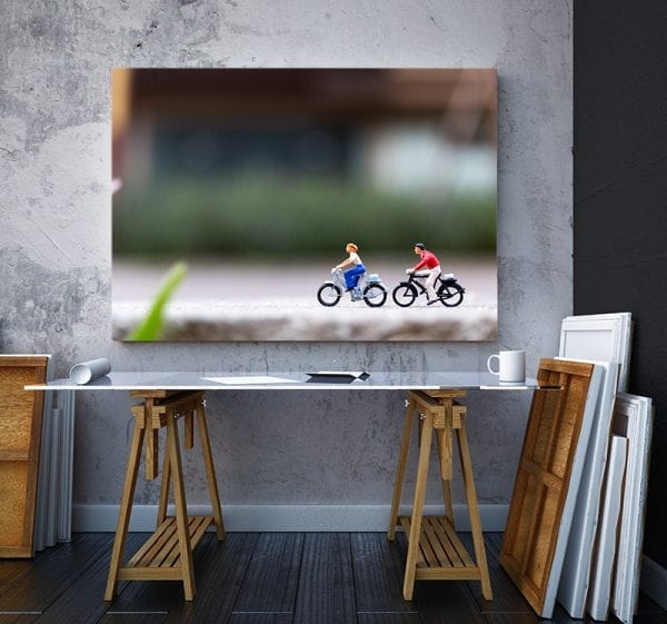 tablou canvas landscape mare birou Tablou canvas biciclete miniatura