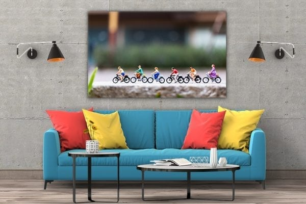 tablou canvas mare landscape Tablou Canvas biciclete grup camera