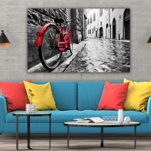 tablou canvas mare landscape camera Tablou canvas bicicleta rosie