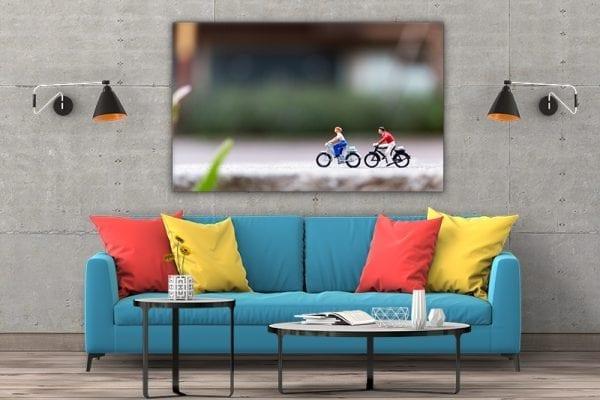 tablou canvas mare landscape camera Tablou canvas biciclete miniatura