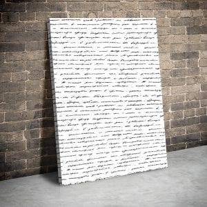 tablou canvas portret main Tablou canvas scris