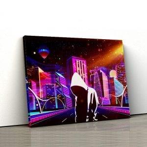 tablou canvas sci fi neon 1