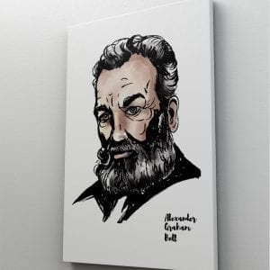 1 tablou canvas Alexander Graham Bell