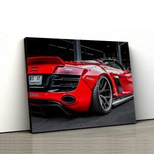 1 tablou canvas Audi R8 V10 rosu