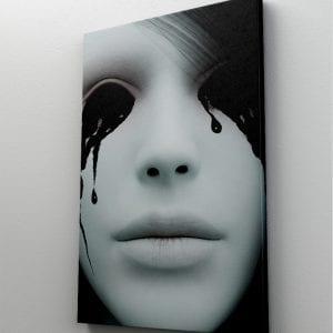 1 tablou canvas Black eyes girl