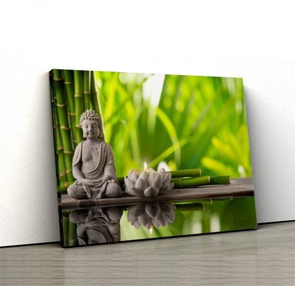 1 tablou canvas Buddha bambus