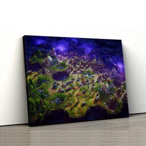 1 tablou canvas Fortnite Map