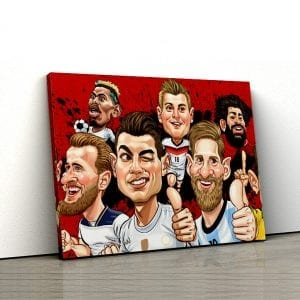 1 tablou canvas Fotbalisti celebri