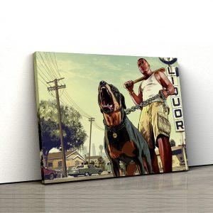1 tablou canvas GTA Franklin