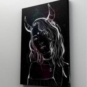 1 tablou canvas Girl with horns