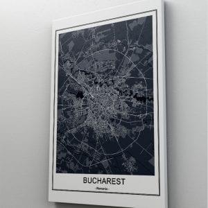 1 tablou canvas Harta Bucuresti