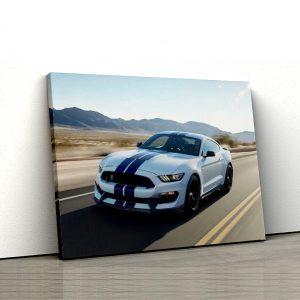 1 tablou canvas Mustang Alb