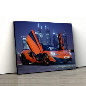 1 tablou canvas Orange McLaren 570S